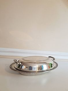 Oneida Covered Entree Server Silver Plate Servingware Silver Covered Casserole Dish Silver Plate Warmer Butler Dish Wedding Formal & Food Warming Stones | ... dinner stones will keep their food warm ...