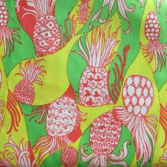 Vintage Lilly Pulitzer Pineapple Print- 1970s