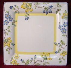 Villeroy Boch China Toscana Pattern Square Dinner Plate   eBay