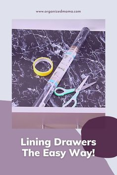 Keep your drawers organized by installing drawer liner. Learn how to line any drawer the easy way! We share our tips and tricks for lining your drawers easily. Check out The Organized Mama on YouTube for more home organization hacks. Kids Bedroom Organization, Linen Closet Organization, Small Space Organization, Home Organization Hacks, Kitchen Organization, Organizing, Lining Drawers, Small Closets, Kid Closet