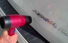 Truco genial para desabollar tu auto con un secador de pelo