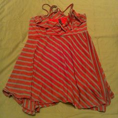 Free people red stripe tank top size S Good  preowned condition Free People Tops Camisoles