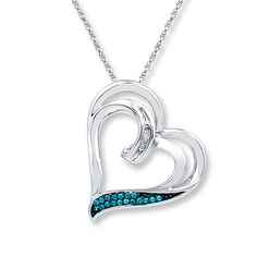 9755a8ad2c98 Diamond Heart Necklace 1 20 ct tw Round-cut Sterling Silver