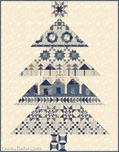 Blue Barn christmas tree quilt by Laundry Basket Quilts Cute Quilts, Scrappy Quilts, Quilting Projects, Quilting Designs, Quilting Ideas, Laundry Basket Quilts, Laundry Baskets, Christmas Tree Quilt, Christmas Quilting