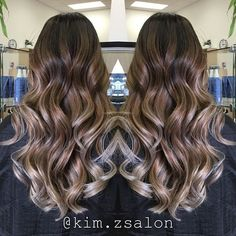 ash brown ombre balayage hair