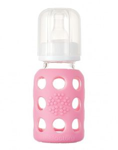 Biberon in vetro - rosa (120 ml). Glass baby bottles. #biberon #vetro