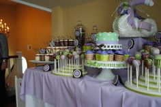 "Lavender Baby Shower Themes | ... Purple and Brown / Baby Shower/Sip & See ""Shannan's Baby Shower"