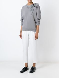Brunello Cucinelli gathered top layered sweater