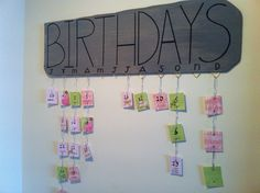 Verjaardagskalender . Eindelijk af!! -monica