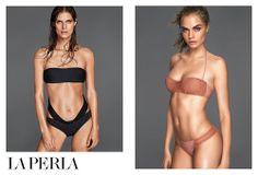 Cara Delevingne, Liu Wen & Malgosia Bela by Mert & Marcus for La Perla Swimwear Spring/Summer 2014 Adv