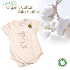 LS-KIDS 有機棉包屁衣-活潑小兔子