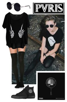 Lynn Gunn {PVRIS} Outfit by beadances on Polyvore featuring polyvore, fashion, style, Converse and Una-Home