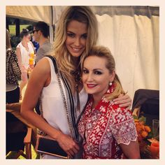 At the polo. Sydney. With Jennifer Hawkins . . .