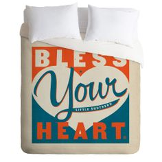 Anderson Design Group Bless Your Heart Duvet Cover | DENY Designs Home Accessories