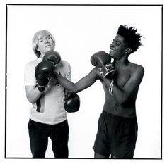 School of Visual Arts, Andy Warhol and Jean-Michel Basquiat by Michael. Jean Michel Basquiat, Jm Basquiat, Best Painting Ever, Madonna, Neo Expressionism, School Of Visual Arts, Andy Warhol, Artist Art, American Artists