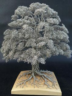 Tree Made From Aluminum Wire Miniature Trees, Wire Weaving, Wire Jewelry, Jewelry Tree, Metal Crafts, Wire Crafts, Art Fil, Wire Tree Sculpture, Handmade Wire