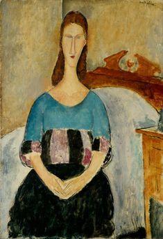 Amedeo Modigliani, Jeanne Hebuterne, Seated, 1918, Gerusalemme, Israel Museum