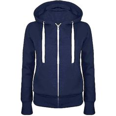 Womens Simple Slim Plain Zip Up Hoodie Navy Blue (105 GTQ) ❤ liked on Polyvore featuring tops, hoodies, jackets, outerwear, sweaters, blue hooded sweatshirt, slim fit hoodie, blue hoodies, navy blue hooded sweatshirt and sweatshirt hoodies