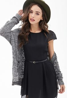 Belted Cap Sleeve Dress | Forever 21 - 2000105093