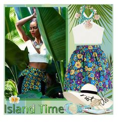 """""""Island girl"""" by oleahg ❤ liked on Polyvore featuring BCBGMAXAZRIA, House of Holland, Betsey Johnson, Eugenia Kim, Iron Fist and Monsoon"""