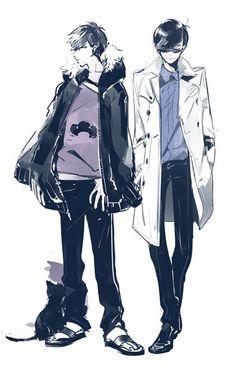 Osomatsu-san- Karamatsu and Ichimatsu Vocaloid, Manga Anime, Anime Art, Character Art, Character Design, Ichimatsu, Hot Anime Guys, Manga Illustration, Doujinshi