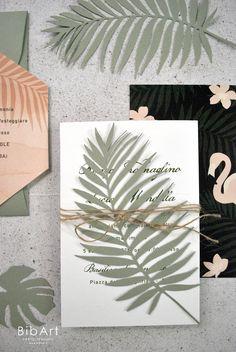 3,60 cad partecipazione matrimonio tema tropicale - 50 pezzi 3, Flamingo, Envelope, Wedding Invitations, Reception, Shapes, Texture, Flowers, Cards
