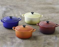 These mini Le Creuset magnets are really cute *and* really strong.