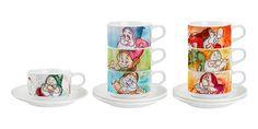 """TAZZA CAPPUCINO """"I 7 Nani"""" - Disney - EGAN s.r.l.  Tazza in ceramica.  Disponibili in soggetti diversi.  Altezza: 6cm Vollume: 20cl"""