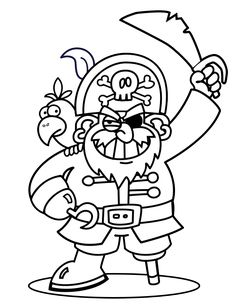 Free+Printable+Doodle+Art+of+pirates | Pirates Coloring Pages & Pirate Crafts
