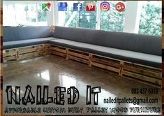 Pallet patio set. Can comfotably sit 12-14 people. Affordable pallet wood furniture designed by you, built by us. For more info, contact 0834376919 or naileditpallets@gmail.com #patiofurniture #palletpatiofurniture #palletbenches #palletbench #palletbenchseat #nailedpalletfurnituredurban #naileditcustombuiltpalletfurniture #palletseating #custompalletfurniture #custompalletfurnituredurban #palletpatioseating #patiofurniture