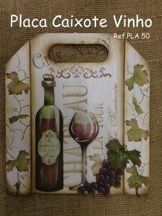 Placa Caixote Vinho
