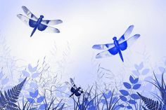 Blue Dragonfly Art Art Print by Christina Rollo. All prints are professionally printed, packaged, and shipped within 3 - 4 business days. Choose from multiple sizes and hundreds of frame and mat options. Blue Dragonfly, Thing 1, Gifts For Nature Lovers, All Print, Beautiful Images, Online Art, Digital Illustration, Art Art, Fine Art America