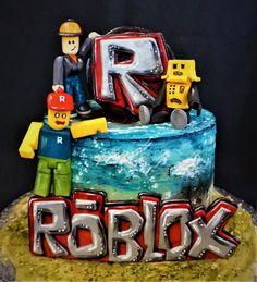 Roblox - cake by Torty Zeiko Roblox Birthday Cake, Roblox Cake, Cute Birthday Cakes, 1st Birthday Parties, 10th Birthday, Birthday Ideas, Lego Ninjago Cake, Lego Cake, Minecraft Cake