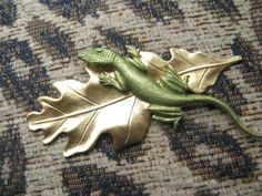 Gecko Barrette Hair barrettes hair clips lizard by MyElegantThings, $20.00