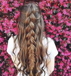 "Luxy Hair on Instagram: ""Mixed dutch & fishtail braid  Double tap if you wish your hair was this long  @reagan.banks"""