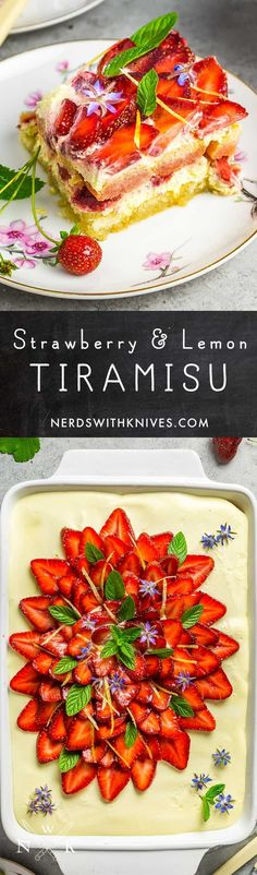 Layers of lemon syrup-soaked lady fingers, silky smooth mascarpone cream, and perfectly-ripe summer strawberries. It may not be a traditional tiramisu, but it just might become your new favorite.