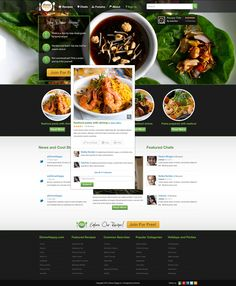 Website design for Dinner Happy by Solomia http://www.serverpoint.com/