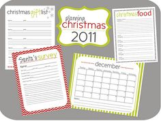 Free Printables for Planning Christmas