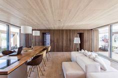 Diseño de interiores de casa de energía solar
