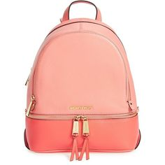 cedcb91068267e MICHAEL Michael Kors 'Small Rhea' Colorblock Leather Backpack ($298) ❤  liked on