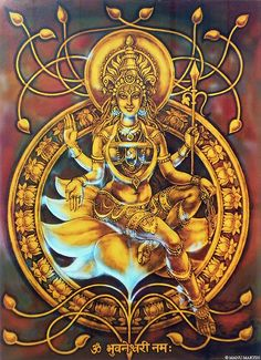 "ivashiva: "" Bhuvaneshwari - One of the Form of Durga """
