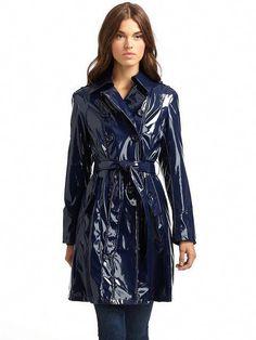Via Spiga faux patent leather trench coat Vinyl Raincoat, Pvc Raincoat, Raincoat Jacket, Hooded Raincoat, Rain Jacket, Plastic Raincoat, Plastic Pants, Patent Trench Coats, Leather Trench Coat