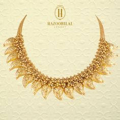 #TheGoldenEssence : Like leaves of gold in the autumn sun.   #HazoorilalLegacy #Hazoorilal #Jewelry #Gold #Necklace