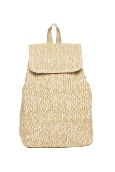 Carry all the beach necessities in this summery woven backpack from asos.