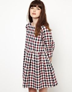 Smock Dress in Check