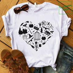 Mode Harry Potter, Harry Potter Shirts, Harry Potter Outfits, Cute Teen Outfits, Outfits For Teens, Cool T Shirts, Tee Shirts, Anniversaire Harry Potter, Harry Potter Birthday