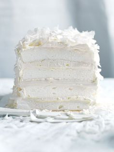 coconut layer meringue cake