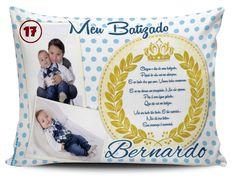 Almofada Personalizada para Batizado - modelo 17 (Pano e Arte)