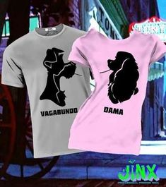 Yo quierooooo😍 Bff Shirts, Couple Tshirts, Matching Couple Outfits, Matching Couples, T-shirts Bff, Matching Disney Shirts, T Shirt Time, Lady And The Tramp, Disney Outfits