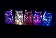 Fairy lights. Light up any space with these stunning lights! Available in white, blue, red, pink, or purple. Lights are battery opperated (batteries included!) and contain 12 stunning colored lights